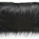 "By Yard-4"" Black Faux Fur on Bias Fringe Lampshade Lamp Pillow Costume Trim"