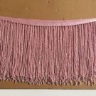 "1 Yard 6.5"" Light Pink Glass Seed Bead Beaded Fringe Lamp Lampshade Costume Trim"