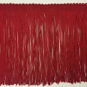 """6"""" Red DOUBLE STRAND Chainette Fabric Fringe Lamp Costume Trim by the yard"""