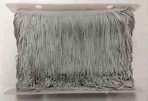 "20 yard Bolt 6"" Light Gray Chainette Fabric Fringe Lampshade Lamp Costume Trim"