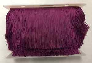 "20 yard Bolt 6"" BERRY PURPLE Chainette Fabric Fringe Lampshade Lamp Costume Trim"