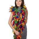NWT Thick 120g Chandelle Feather Boa Rainbow Mix 6ft Flapper Burlesque Costume