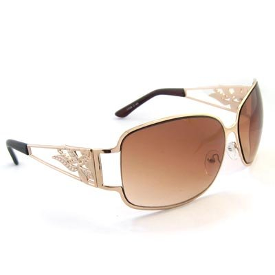 Tan Tinted Oversized Sunglasses [style 1]