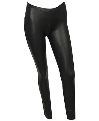Cropped Black Faux Leather Leggings