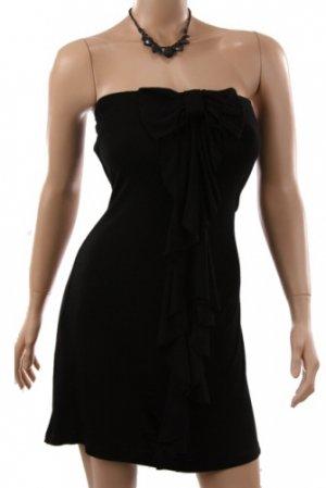 Black Flutter Strapless Party Dress (M)