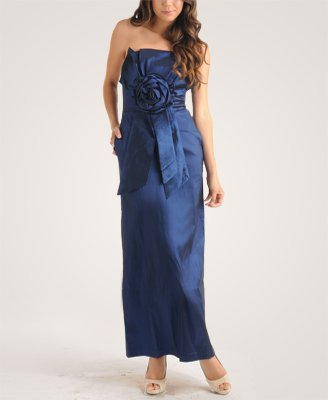 F21 Forever 21 Strapless Royal Blue Trophy Prom Dress (S)
