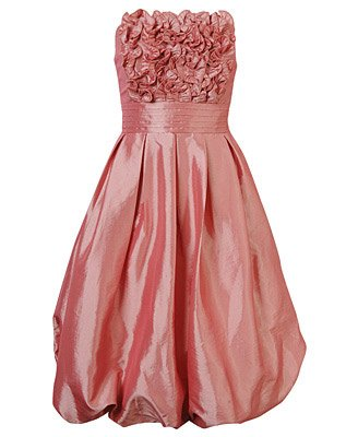 F21 Forever 21 Blush Pink Streaming Ruffled Taffeta Dress Gown Prom (M)