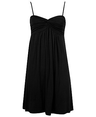 F21 Forever 21 Black Gathered Bust Knit Dress (M)