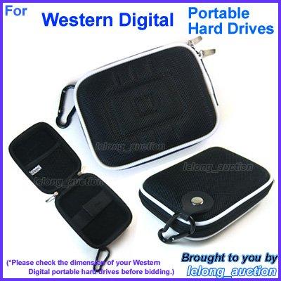 Black Carry Case Cover for Western Digital WD My Passport Essential SE / Elite / for Mac SE