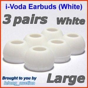 Large Ear Buds Tips Pads for Sennheiser CX 270 271 280 281 300 300-II 400 400-II 500 475 485 @White