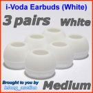 Medium Ear Buds Tips Pads for Sennheiser CX 270 271 280 281 300 300-II 400 400-II 500 475 485 @White