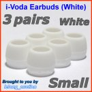 Small Ear Buds Tips Pads for Sennheiser CX 270 271 280 281 300 300-II 400 400-II 500 475 485 @White