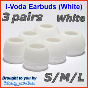 Replacement Ear Buds Tips for Sennheiser CX 270 271 280 281 300 300-II 400 400-II 500 475 485 @White