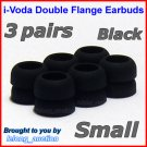 Small Double Flange Ear Buds Tips for Sennheiser CX 300 300-II 400-II 500 350 380 550 / IE 6 7 8 @B