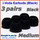 Medium Ear Buds Tips Pads for Creative EP-3NC HS-730i EP-650 EP-660 EP-830 EP-630 EP-630i EP-635 @B
