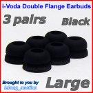 Large Double Flange Ear Buds Tip Cushion for Creative EP-3NC HS-730i EP-650 EP-830 EP-630 EP-630i @B
