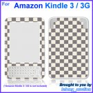 Vinyl Skin Sticker Art Decal Grey White Checkerboard for Amazon Kindle 3 Wi-Fi 3G eBook Reader