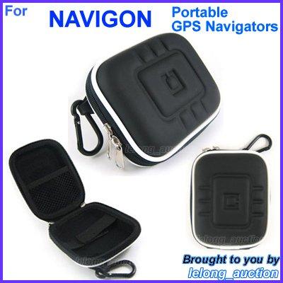 Black Carry Case Cover for NAVIGON 20 Easy Plus GPS Navigators