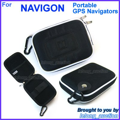 Black Carry Case Cover for NAVIGON 40 Easy Plus Premium Live GPS Navigators