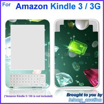 Vinyl Skin Sticker Art Decal Sparkling Diamond Design for Amazon Kindle 3 Wi-Fi 3G eBook Reader