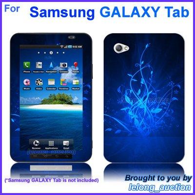 "Vinyl Skin Sticker Art Decal Blue Glow Design for Samsung GALAXY Tab 7"" 7-inch Tablet"
