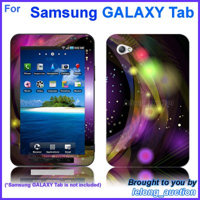 "Vinyl Skin Sticker Art Decal Disco Design for Samsung GALAXY Tab 7"" 7-inch Tablet"