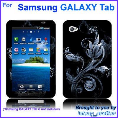 "Vinyl Skin Sticker Art Decal Silver Flower Design for Samsung GALAXY Tab 7"" 7-inch Tablet"