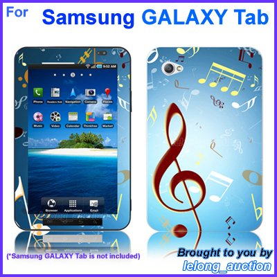 "Vinyl Skin Sticker Art Decal Music Notes Design for Samsung GALAXY Tab 7"" 7-inch Tablet"