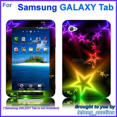 "Vinyl Skin Sticker Art Decal Shining Star Design for Samsung GALAXY Tab 7"" 7-inch Tablet"