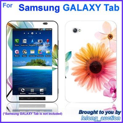 "Vinyl Skin Sticker Art Decal Sunflower Sun Flower Design for Samsung GALAXY Tab 7"" 7-inch Tablet"