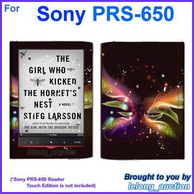 Vinyl Skin Sticker Art Decal Butterfly Glow Design for Sony PRS-650 Reader Touch Edition eReader