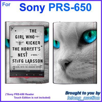 Vinyl Skin Sticker Art Decal Blue Eye Cat Design for Sony PRS-650 Reader Touch Edition eReader