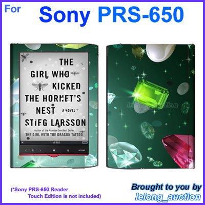 Vinyl Skin Sticker Art Decal Sparkling Diamond Design for Sony PRS-650 Reader Touch Edition eReader