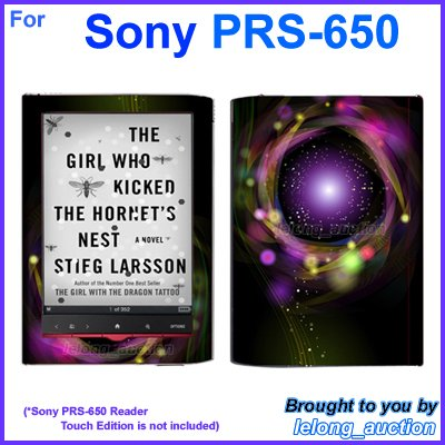 Vinyl Skin Sticker Art Decal Disco Spotlight Design for Sony PRS-650 Reader Touch Edition eReader