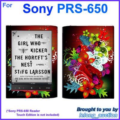 Vinyl Skin Sticker Art Decal Assorted Flower Design for Sony PRS-650 Reader Touch Edition eReader