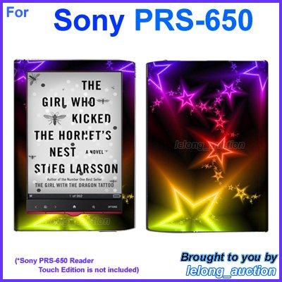 Vinyl Skin Sticker Art Decal Shining Star Design for Sony PRS-650 Reader Touch Edition eReader