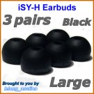 Large Replacement Ear Buds Tips for Sony MDR EX33 EX35 EX36 EX50 EX56 EX57 EX58 EX76 EX77 EX80 EX86