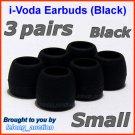 Small Ear Buds Tips Cushions for Sennheiser CX 150 200 215 250 350 55 380 550 95 CX 6 Travel @Black