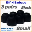Small Replacement Ear Buds Tips Pads Cushions for Sony XBA-4 XBA-4iP XBA-NC8 XBA-BT75 XBA-S6 @Black