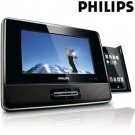 Philips Portable 7 Inch Docking Entertainment System For MP3 Ipod & Iphone