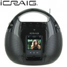 I-Craig Portable Docking Station & AM/FM Radio For Ipod MP3 Players & Personal CD Players