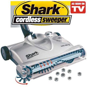 Shark Euro-Pro Rechargeable Cordless High Performance Floor Vacuum Sweeper Cleaner