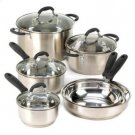 Professional Grade Deluxe Stainless Steel 10 Piece Cookware Set Pots Pans & Skillets