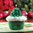 Christmas Tree Cupcake Candy Cane Scented Figural Holiday Candle