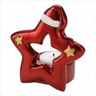 Santa Star Ceramic Christmas Candle Holder & Decorative Figure