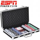 ESPN 300 Piece Professional Poker Chip Gaming Set With Hard Storage Case