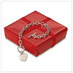 #31493 Heart Pendant Link Bracelet