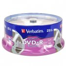 Verbatim DigitalMovie 8x 4.7GB 120-Minute DVD+R Media 25-Piece Spindle