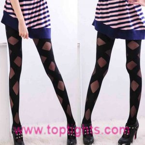Bondage Sheer Opaque Starp Around Tights Celeb Fashion Lingerie Hosiery Pantyhose