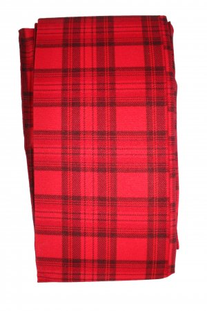 Red Tartan Check Color Printed Patterned Tights Stockings